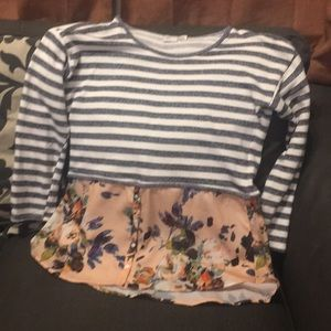 Anthropologie two pattern blouse (size medium)